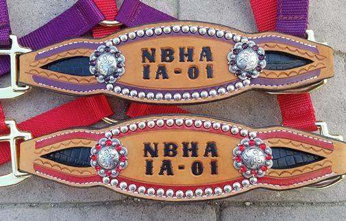 custom inlay bronc halters