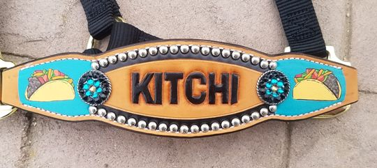 custom painted bronc halter