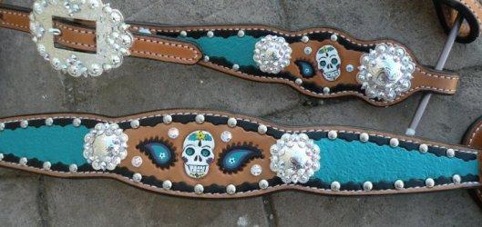 turquoise skulls
