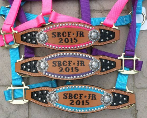 colored inlay halters
