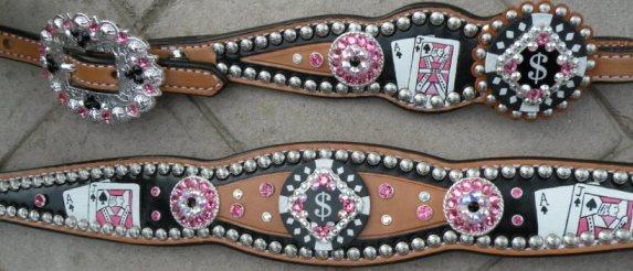 poker pink tack set