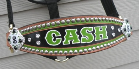 custom cash horse bronc halter
