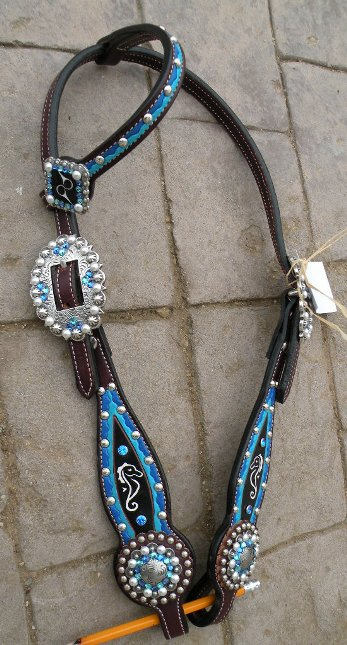 custom painted headstall