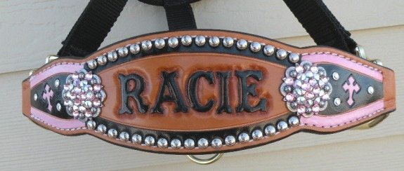 custom painted bronc halter cross
