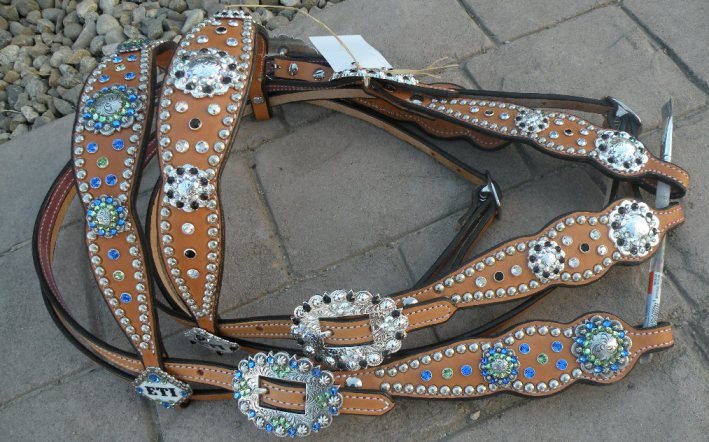 custom bling tack set