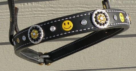 smiley custom noseband