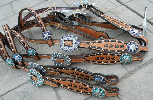 award horse bling headstalls tack