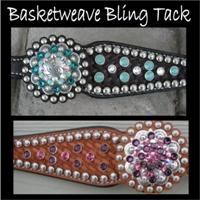 basketweave bling tack sets
