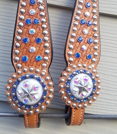 custom bling tack set blue royal