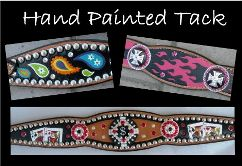 hand painted tack custom horse tack sets