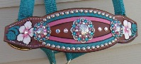custom bronc halter floral tooled