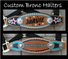 custom order bronc halters