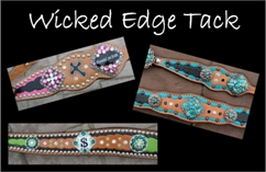 custom painted horse tack bling horse tack