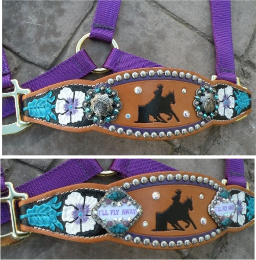 Floral Tooled Halters