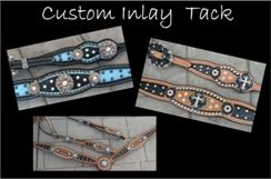 custom horse tack inlay and bling tack sets