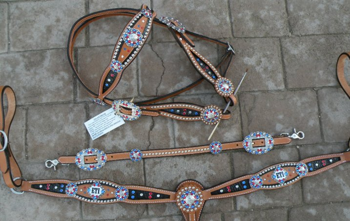 custom trophy tack set inlay 2