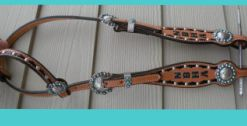Simple stamped headstalls and breastcollars (starting at $110)