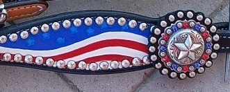 patriotic black headstall
